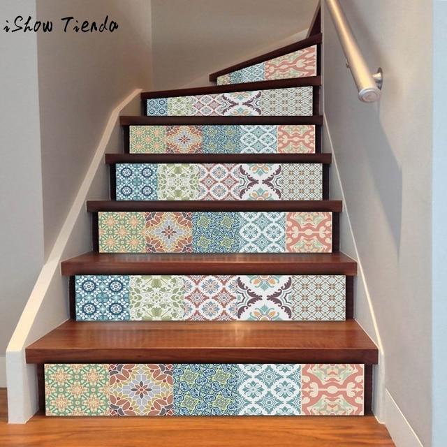Attirant DIY Steps Sticker Removable Stair Sticker Home Decor Ceramic Tiles Patterns  Landscape Home Decoration 18*