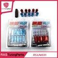 20 Unids Muteki SR48 Tuercas de las Ruedas de Acero Longitud 48mm M12x1.5 RS-LN031 Azul Rojo