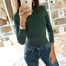 Turtleneck Knit Ribbed Bodysuit
