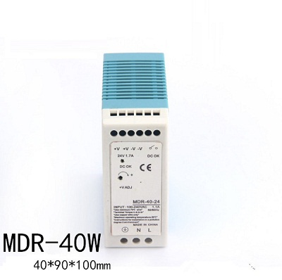 40W Single Output Industrial DIN Rail Power Supply MDR-40-24 40W 24V Din Rail Switching Power Source DIN Series Supply mdr 40 12 single output micro volume 12v ac dc 40w din rail 42w switching model power supply 12v