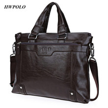 Hemming Hardware Solid Color Letter Portable Shoulder Messenger Business Bag for Men Angular angle just as