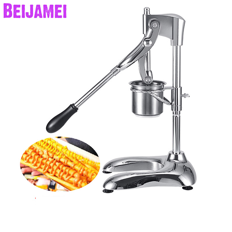 BEIJAMEI Wholesale 30cm French Fries Maker Presser Manual Potato Chips Cutters Machine Long French Fries SqueezersBEIJAMEI Wholesale 30cm French Fries Maker Presser Manual Potato Chips Cutters Machine Long French Fries Squeezers