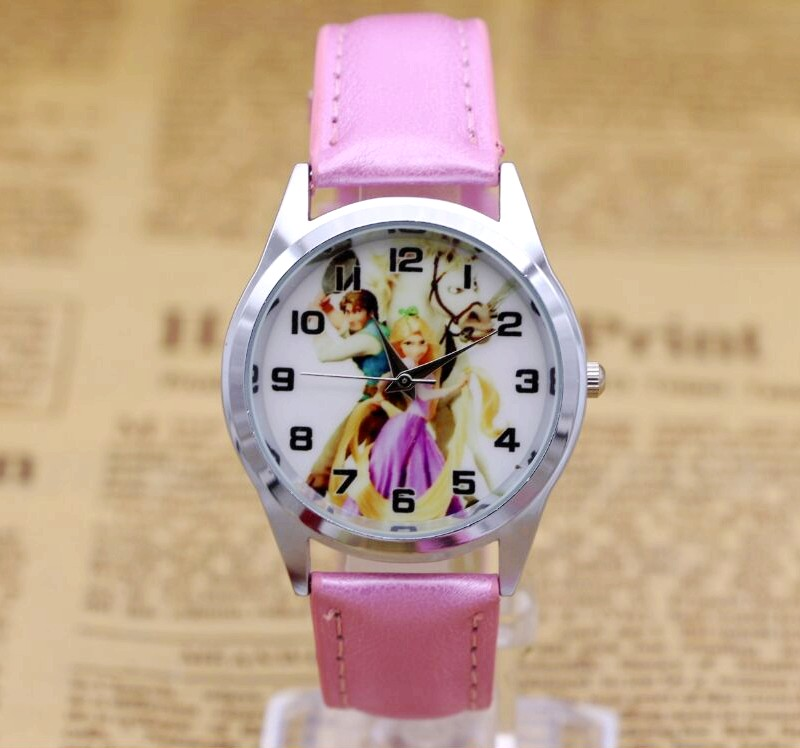 Cartoon Children Watch Fashion Princess Leather Strap Quartz Watch Kids Girls Student Casual Clock Relogio ladies watches joyrox minions pattern children watch 2017 hot despicable me cartoon leather strap quartz wristwatch boys girls kids clock