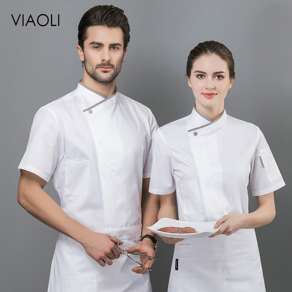 High Quality Chef Uniform Restaurant Hotel Catering Chef Work Shirt Food Service Kitchen Chef Jacket Work Clothes Men Unisex New