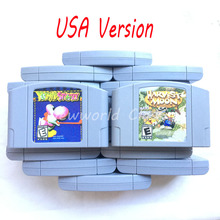 Yoshis Story Harvest Kart Party 123 Bros. US NTSC Version English Language for 64 bit Game Console for Video Game Cartridge Card