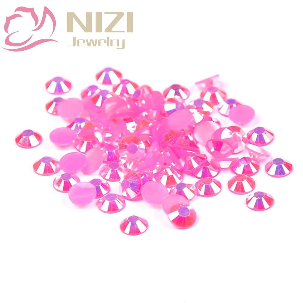 2016 New Glitter Beauty Beads Resin Rhinestones For 3D Nail Art Decoration 2-6mm Rose AB Color Flatback Non Hotfix Crystal Stone gitter 2 6mm citrine ab color resin rhinestones 14 facets round flatback non hotfix beads for 3d nail art decorations diy design