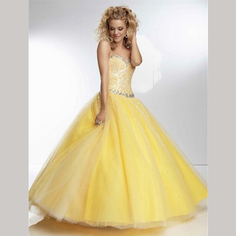 Popular Yellow Sweet 16 Dresses-Buy Cheap Yellow Sweet 16 Dresses ...
