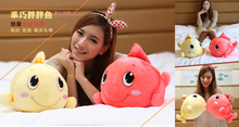 a pair creatinve watermelon red &yellow plush fish toys  lucky fish doll fortune fish dolls gift about 36cm