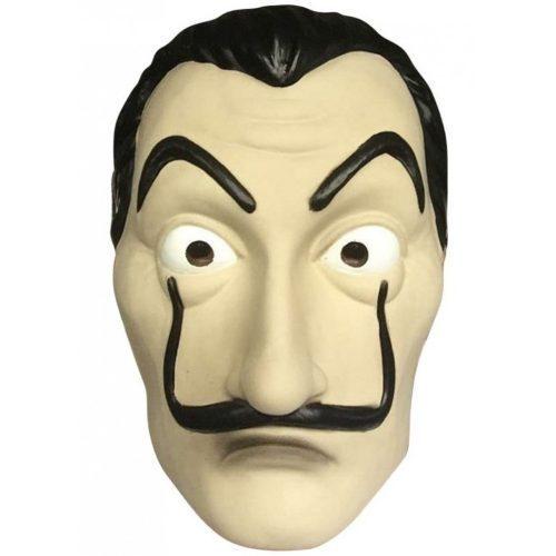 La Casa De Papel máscara Cosplay España TV Salvador Dalí Cos máscara facial De látex Halloween Cosplay accesorio Fiesta Club barba hombre de la máscara