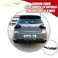 MK5 R32 Carbon Fiber Rear Bumper Lip Difusor En Forma Para El Volkswagen VW Golf 5 V MK5 R32 Parachoques Difusor De Escape Car Styling