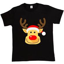 Cheeky Smile Rudolph Red Nose Reindeer Mens T-Shirt2019 fashionable Brand 100%cotton Printed Round Neck T-shirts cheap wholesale(China)