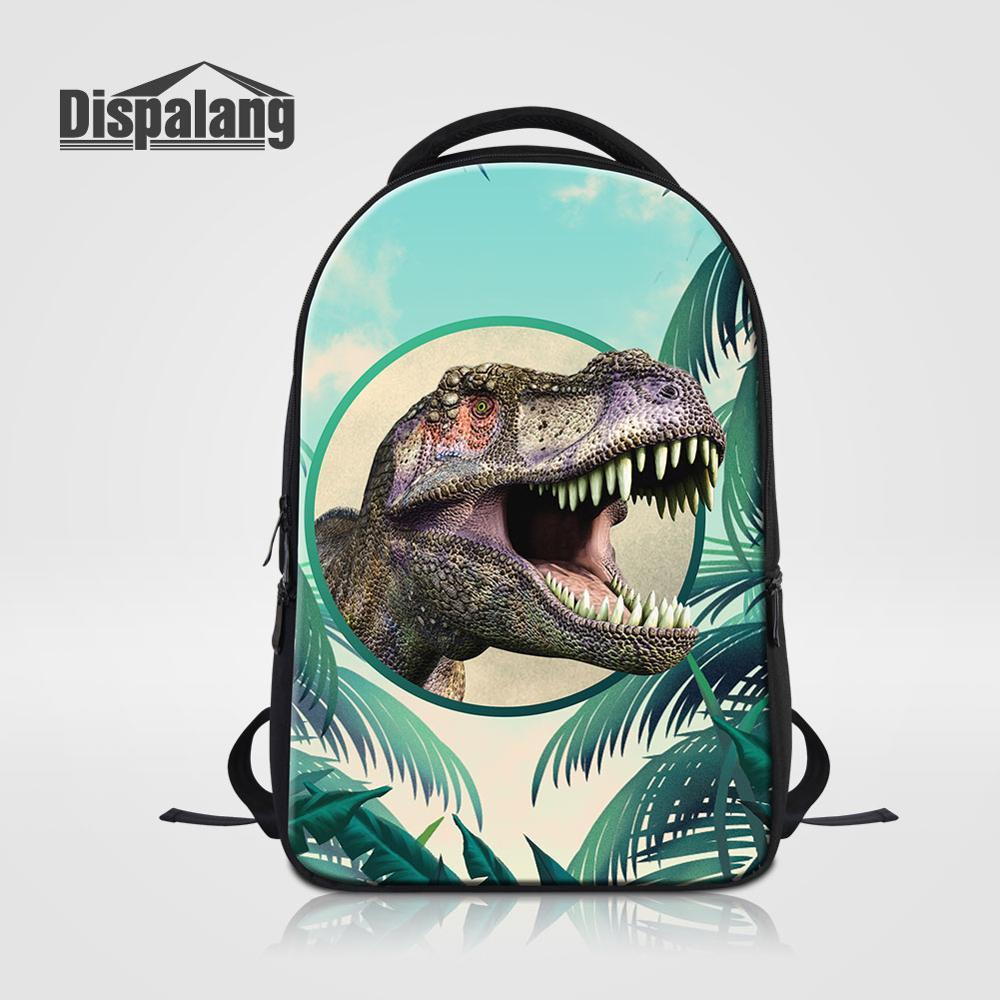 Hommes sac à dos de voyage pour ordinateur portable Animal dinosaure loup impression mâle sac à dos Mochila grand collège sacs d'école pour adolescents garçon Rugtas