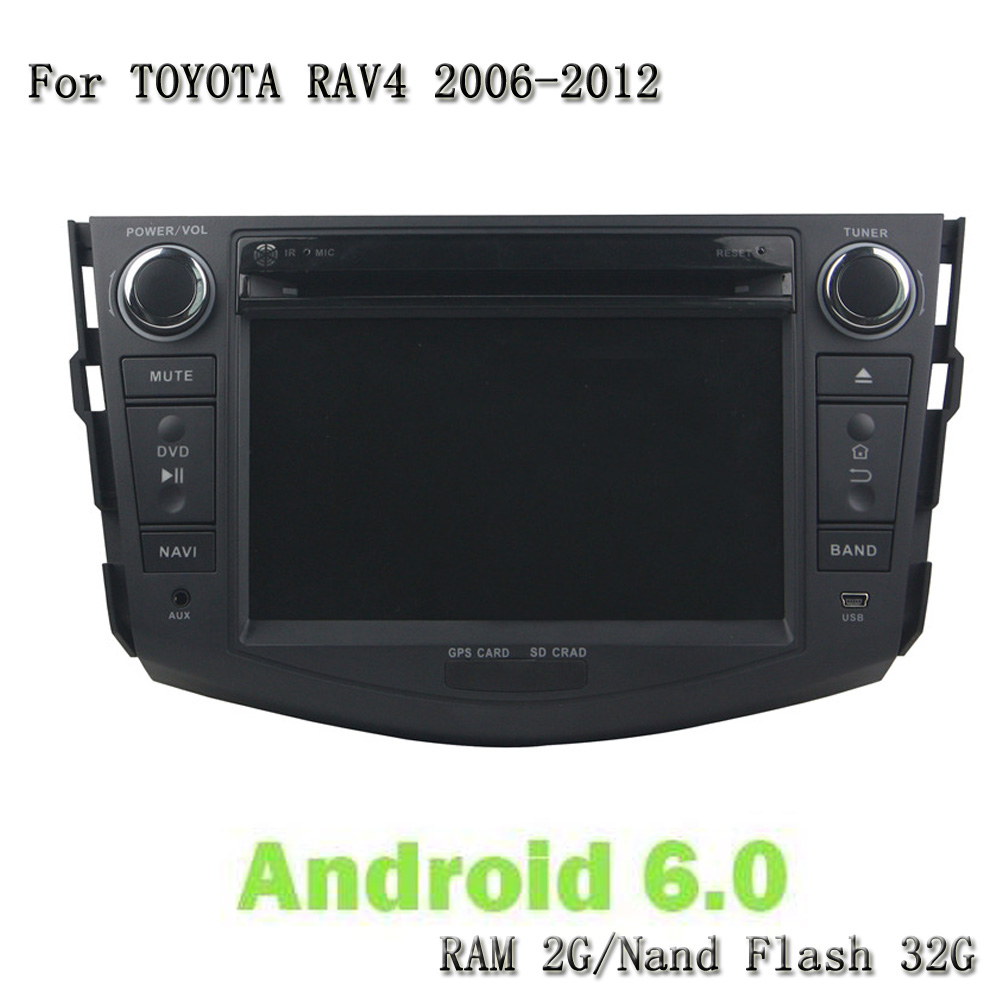 Double Din 8 Core Android 6.0 2G RAM 32G ROM 3G/4G Car DVD Video Player GPS Multimedia Headunit For Toyota RAV4 2006-2012