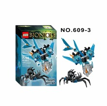 XSZ 609-3 Biochemical Warrior Bionicle Akida Creature of Water Bricks Toy Building Block Minifigures Toys Compatible Legoe