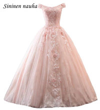 Blush rosa 2019 Quinceanera Prom Vestidos com Manga Comprida Off The Shoulder Lace vestido de Baile Vestidos De 15 Años Doce 16 vestidos de 362