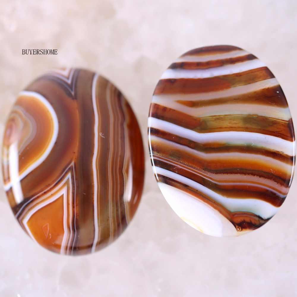 30x40 MM Cabochon รูปไข่ลูกปัดหินธรรมชาติ Lapis Tiger's eye นิลสีขาว Howlite สีเขียว Aventurine Rhodonite Carnelian CAB 1 Pcs