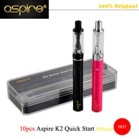 10 Pcs Lot Wholesale Price 100 Original Brand Aspire Electronic Cigarette K2 Quick Starter Kit For