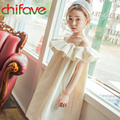 chifave 2016 New Summer Girls Dresses Children Girls Princess Ruffled Slip Dress Fashion Kids Clothing Girls Cotton Soft Dresses