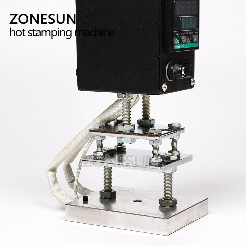 Ручной станок ZONESUN для тиснения кожи, дерева, бумаги с логотипом, горячего тиснения, термопресс, брендинговый Утюг