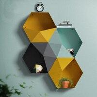 collalily Nordic Wall Decoration Magazine Storage diamond metal sundries Holders Racks Modern Design Hanger corridor geometric