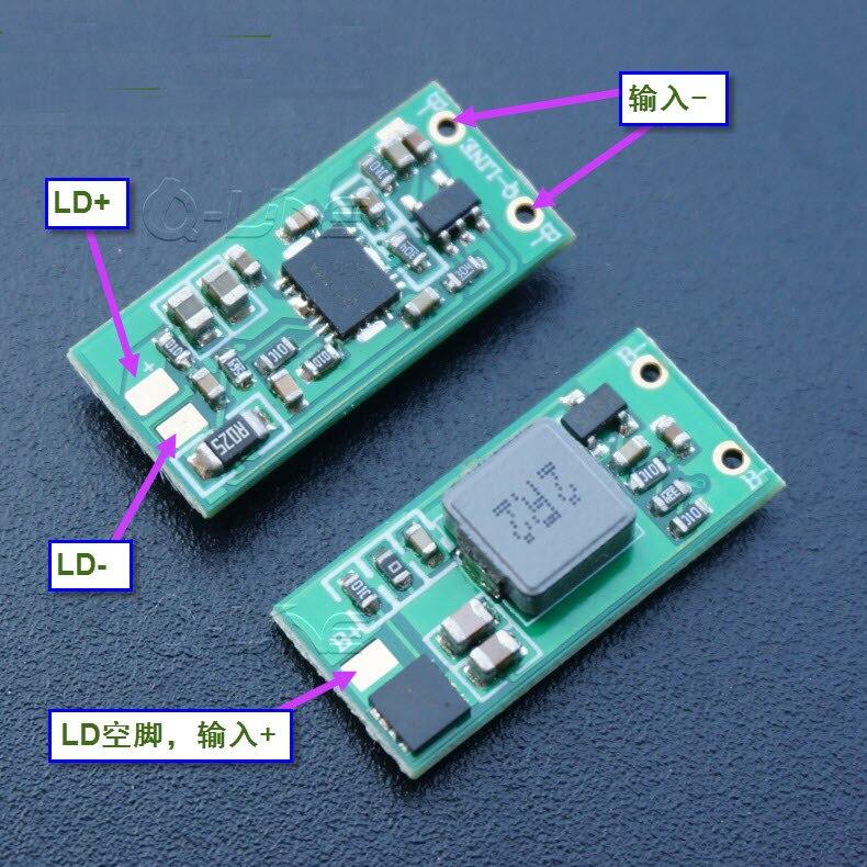 1 Вт 2 Вт 3 Вт 4,75 Вт 450нм 462нм 520нм синий зеленый лазерный привод LD постоянное увеличение тока цепи
