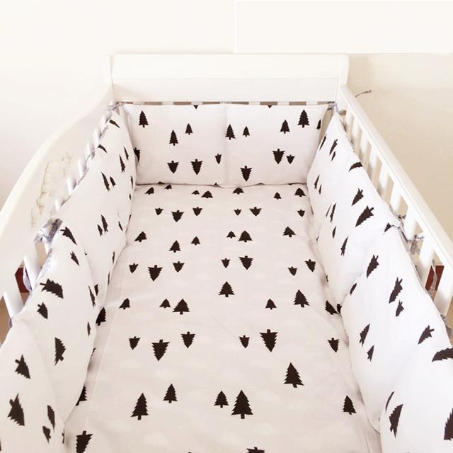 2016! 6 PCS berço cama pára conjunto com colcha, jogo do fundamento do bebê (bumpers + folha + fronha)