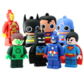 Usb Flash Drive New Pen Drive 32gb Pendrive 16gb 8gb Cartoon Superman Batman Hot Avenger Iron man Usb 2.0 Memory Stick U Disk