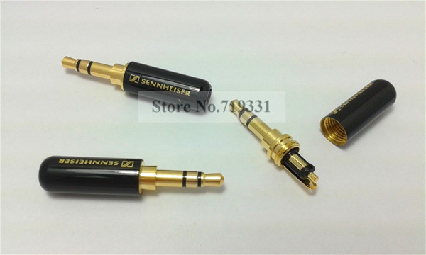 3pcs High Quality Copper Gold Plated 3.5mm Male Stereo Mini Jack Plug Soldering