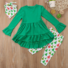 Baby Girls Christmas Long Sleeve Outfits Clothes Set