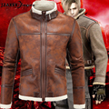 Men leather resident evil jacket mens winter leather jackets Men's Fashion PU Jacket Stand Collar New Arrival