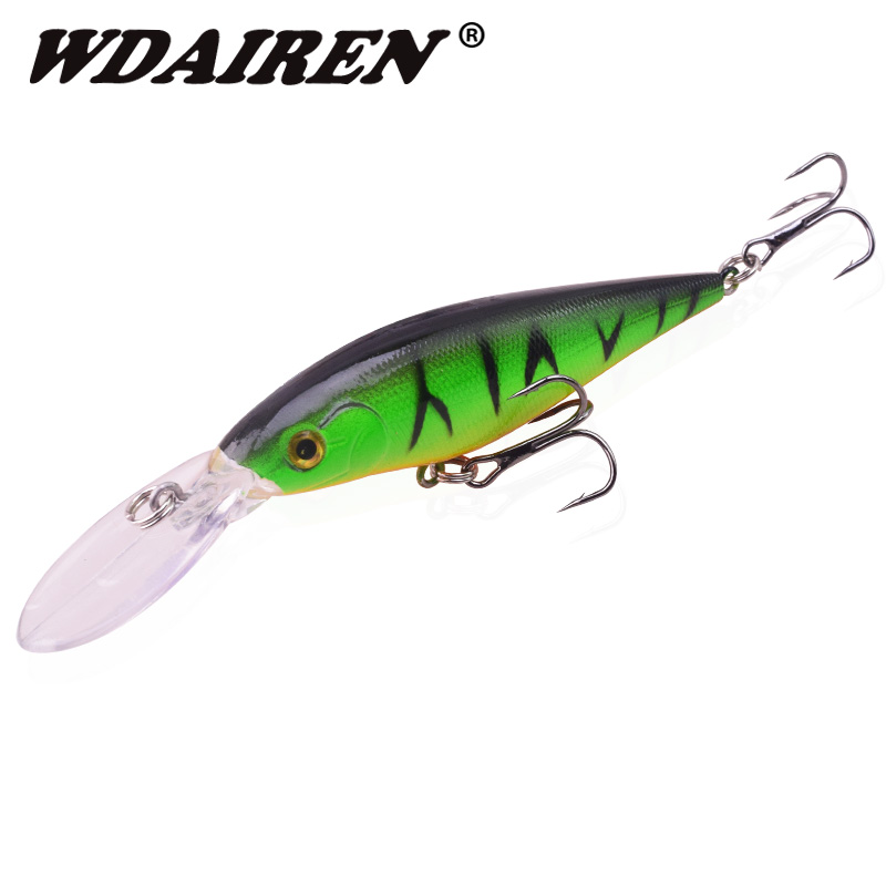1Pcs 11cm 11g Minnow Fishing Wobblers Lures Long Tongue Crank Baits Artificial Hard Bait Bass Carp Pesca Fishing Tackle WD-197