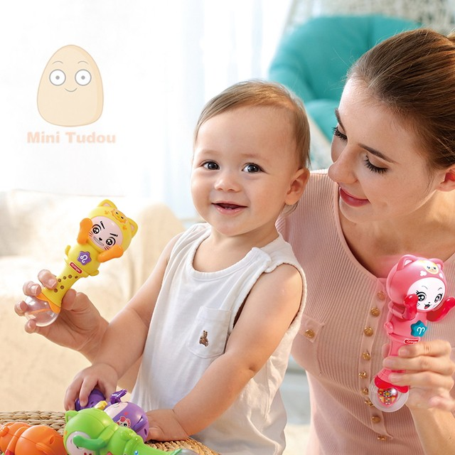 Online Shop Baby Musical Rattle Handbells Baby Hand Bells Toy For 0 ...