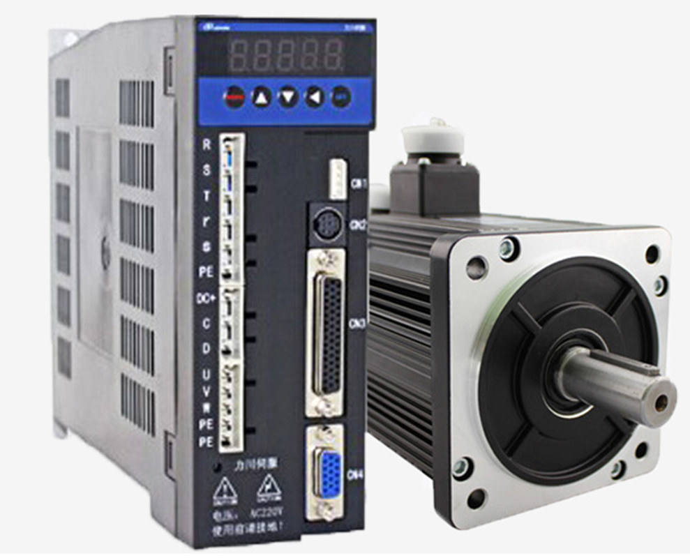 3phase 220V 1500w 1.5kw 5N.m 3000rpm 110mm AC servo motor drive kit 2500ppr with 3m cable dcs810 leadshine digital dc brush servo drive servo amplifier servo motor controller up to 80vdc 20a new original