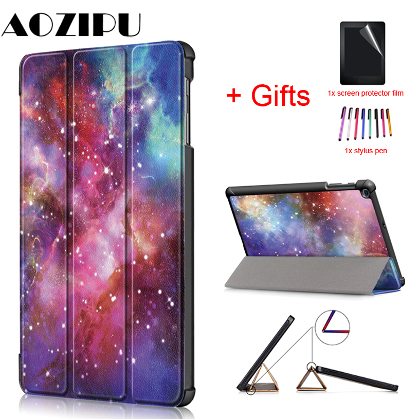 Funda Case for Samsung Galaxy Tab A 10.1 SM-T510 SM-T515 2019 Stand PU Leather Cover for Samsung Tab A 10.1 2019 T510 T515 Case image