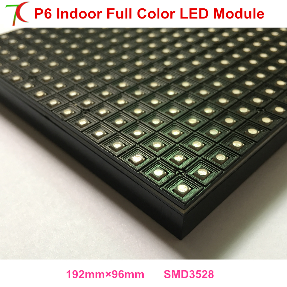 192mm*96mm P6 Indoor  Full Color Led Module Smaller Size Led Panel Led Display