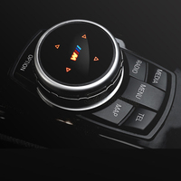 Car Stickers Idrive Multimedia Buttons Cover M Emblem Stickers For BMW X1 X3 X5 X6 F30