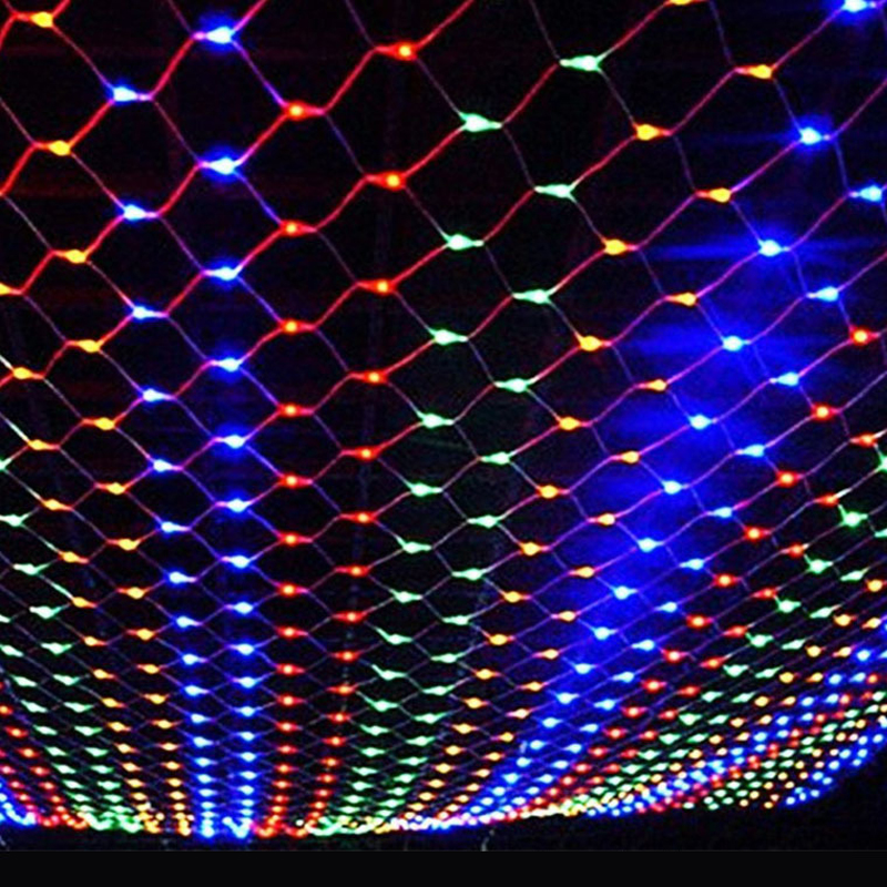 220V EU plug 3x2M Waterproof LED Net string light Diy Christmas Decorations for Home Festival Garden Party Supplies