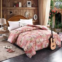 Shuiyunzhixing Цветочный принт Гусь Подпушка duvet Queen King Размеры Хлопковый чехол ручной работы Стёганое одеяло