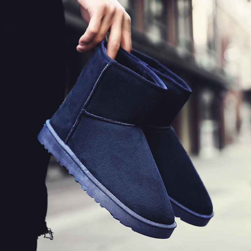 Hemmyi winter new unisex snow boots keep warm suede australian style ankle boots bota feminina Plus size 35-45 2017 cow suede genuine leather female boots all season winter short plush to keep warm ankle boot solid snow boot bota feminina