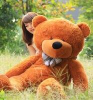 New Giant 95CM Big Cute Light Brown Plush Teddy Bear Huge Soft Bear Kids Children Birthday Gift Lovely Stuffed Plush Animal