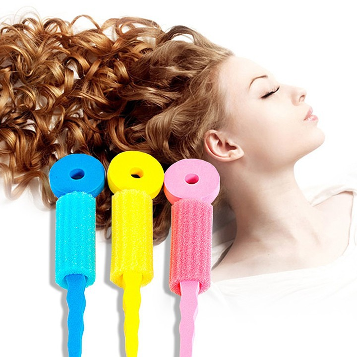 hair curler styles 6 pcs hair care foam rollers magic sponge soft hair curler 6534 | 6 PCS Hair Care Foam Rollers Magic Sponge Soft Hair Curler Hair Styling Hair Roll Rollers
