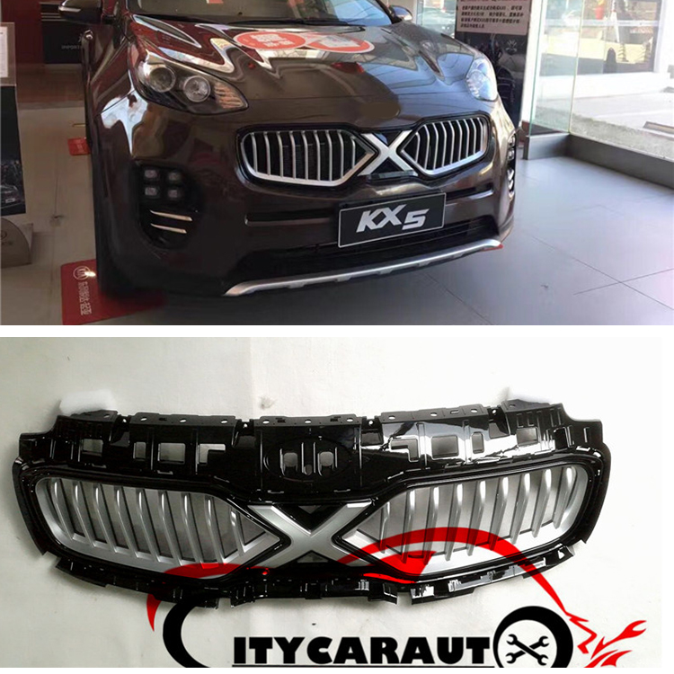 FRONT GRILLE RACING GRILL COVER X-man version FIT FOR KIA SPORTAGE KX5 CAR 2016 2017 top quality front racing grill grille car styling fit for new kia sportage kx5 2016 2017 front grill racing grill with free ship