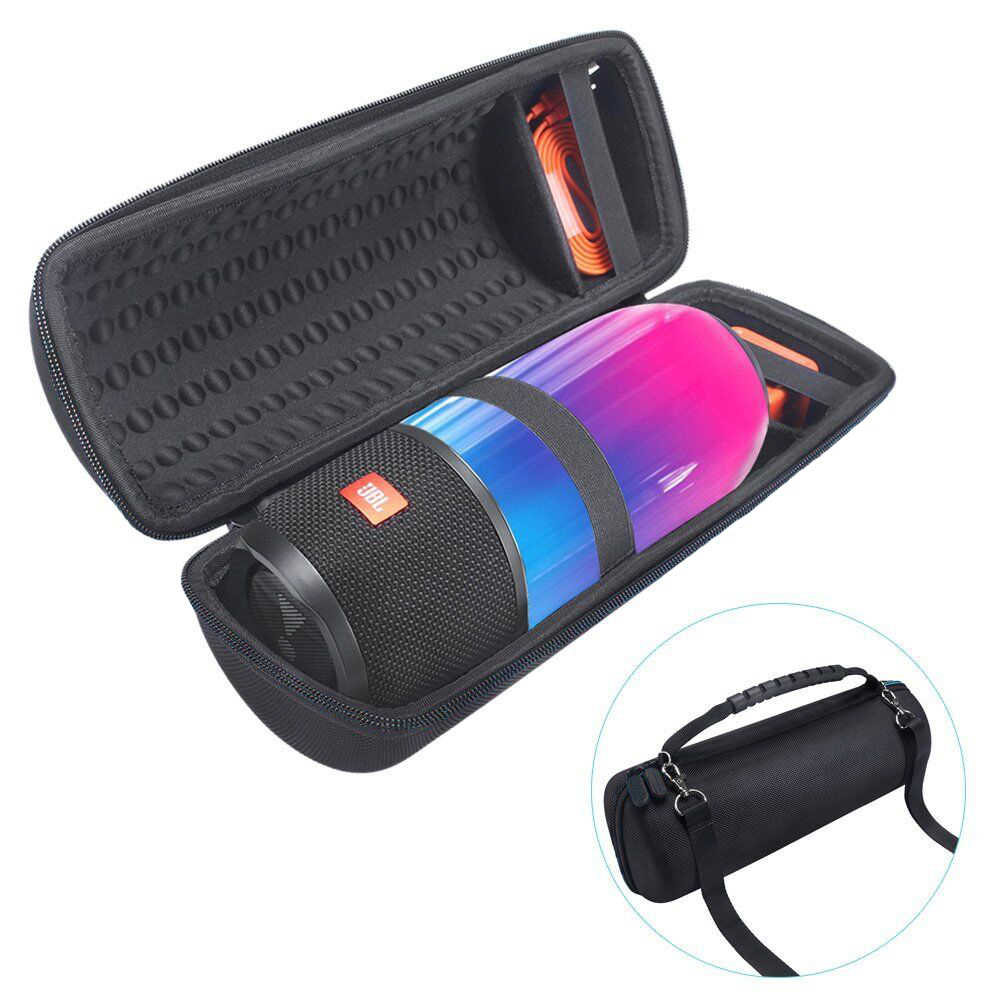 Russia Newest PU Carry Protective Speaker Box Pouch Cover Bag Case For JBL Pulse 3 Pulse3 Speaker-Fit for Plug&Cables(With Belt)