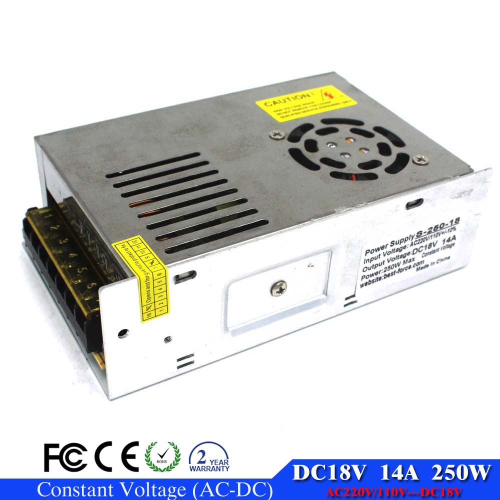 single output switching power supply 18V 14A 250W ...