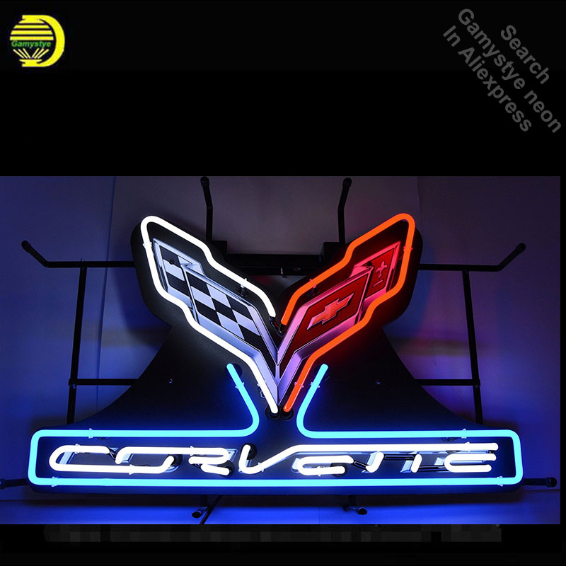 Corvette C7 Stingray Neon Sign neon bulb Sign neon lights Sign glass Tube Handcraft Iconic Sign Display neon lights for sale