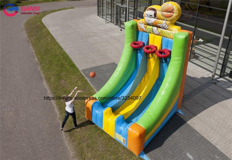 Hot mini canestro da basket gonfiabile interna gonfiabile basket toss gioco di sport in vendita - 3