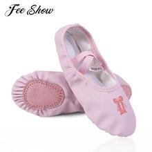 c61549a7b6e11 Chaussures de Ballet pour enfants pour filles chaussons de danse Split Sole  appartements chaussures de pratique de ballerine de .