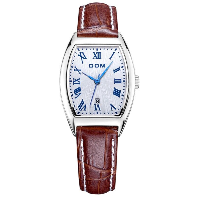 DOM classique femmes rétro petit cadran de haute qualité femmes Quartz montre-bracelet femme Rectangle montre livraison directe Relogio Feminino