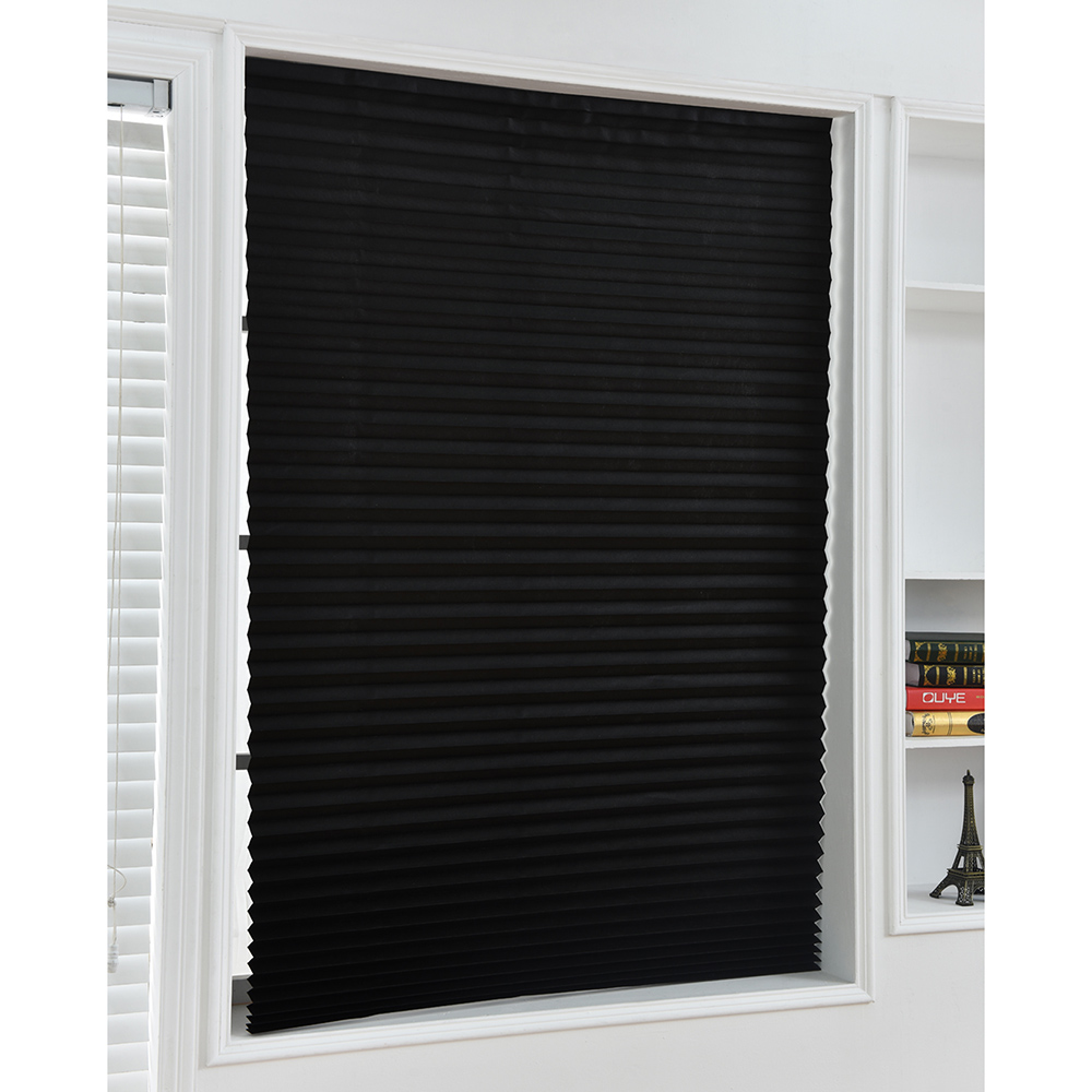 Half Blackout Windows Self-Adhesive Pleated Blinds Curtains For Bathroom Balcony Shades For Living Room Window Door 90x150cm