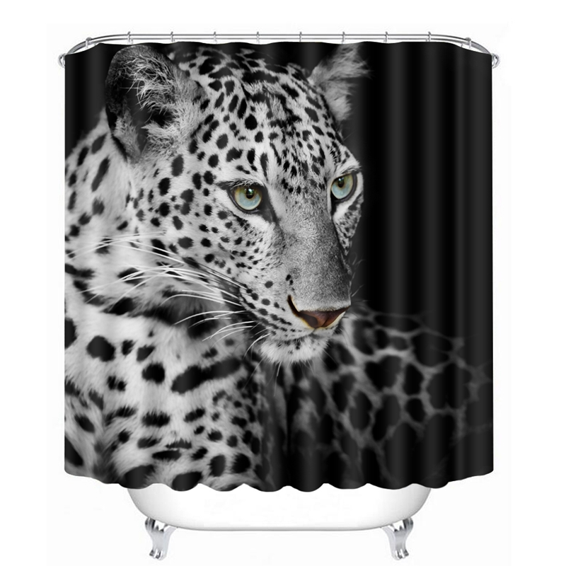 Ferocious Jaguar: 3D Jaguar Pattern Shower Curtains Ferocious Animal